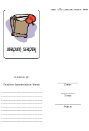 Teachers' Luncheon Invitation Template