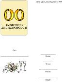Recommitment Ceremony Invitation Template