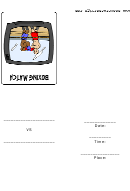 Boxing Match Party Invitation Template