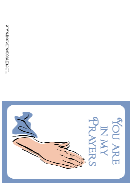 You Are In My Prayers Sympathy Card Template