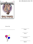 Mystery Party Invitation Template