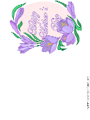 Lavendar Flowers Happy Mother's Day Greeting Card Template