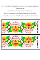 Printable Floral Bookmarks Template