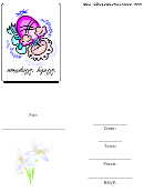 Baby Girl Baptism Invitation Template