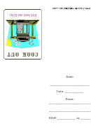 Propane Gas Barbque Grill Cook Out Invitation Template
