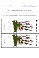 Gladioli Flowers Bookmark Template