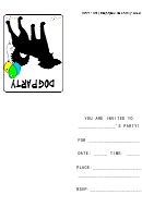 Dog Party Invitation Template