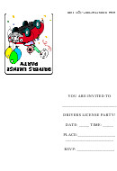 Yippie Drivers License Party Invitation Template