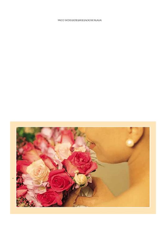 Bride Flowers Wedding Invitation Template