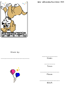 Puppy Dog Theme Animal Party Invitation Template
