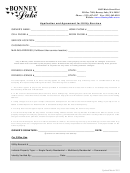 Application And Agreement For Utility Services - Bonney Lake, Washington