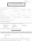 Application For Special Event Activity - City Of Battle Creek, Michigan