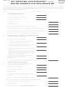 Form Nol - Net Operating Loss Worksheet