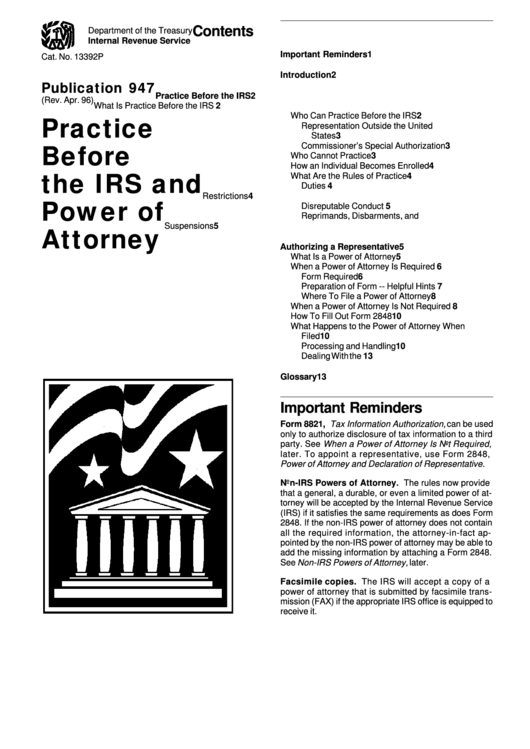 Form 8821/2848 - Tax Information Authorization - Power Of Attorney And Declaration Of Representative Printable pdf