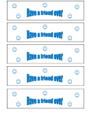 Have A Friend Over Gift Coupon Template
