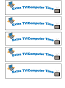 Extra Tv/computer Time Gift Coupon Template