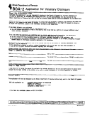 Form Boa-2 - Application For Voluntary Disclosure