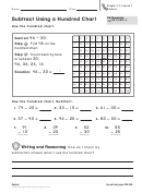 Subtract Using A Hundred Chart