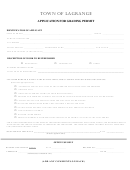 Application For Grading Permit Form - Town Of Lagrange
