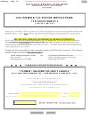 Sd Eform 2258 - Premium Tax Return Voucher For South Dakota - 2013