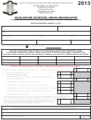 Form T-204r-annual - Sales And Use Tax Return - Annual Reconciliation - 2013