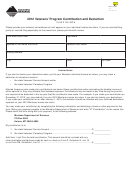 Montana Form Vt - 2012 Veterans' Program Contribution And Deduction