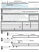 Form Btr-101 - Application For Wisconsin Business Tax Registration