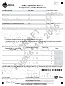 Montana Form Etm Draft - Enrolled Tribal Member Exempt Income Certification/return - 2015