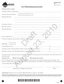 Form W-2 Draft - Withholding Declaration - Montana Department Of Revenue
