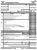 Form 565 - Partnership Return Of Income - 1998