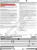 California Form 3576(pit) Draft - Pending Audit Tax Deposit Voucher For Individuals - 2014