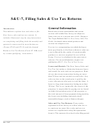 S&u-7 Filing Sales & Use Tax Returns - New Jersey Department Of The Treasury