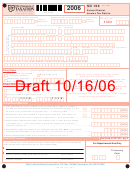 Form Sd 100 - School District Income Tax Return - Draft 10/16/06