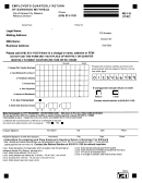 Form Rd-110 - Employer's Quarterly Return Of Earnings Withheld