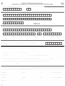 Form F-301 - Application To Register For North Dakota Income Tax Withholding - 1998