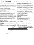 Form Il-1023-ces Draft - Composite Estimated Tax Payments For Partners And Shareholders - 2012