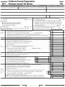 Form 109 - California Exempt Organization Business Income Tax Return - 2011