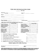 Year End Reconciliation Form