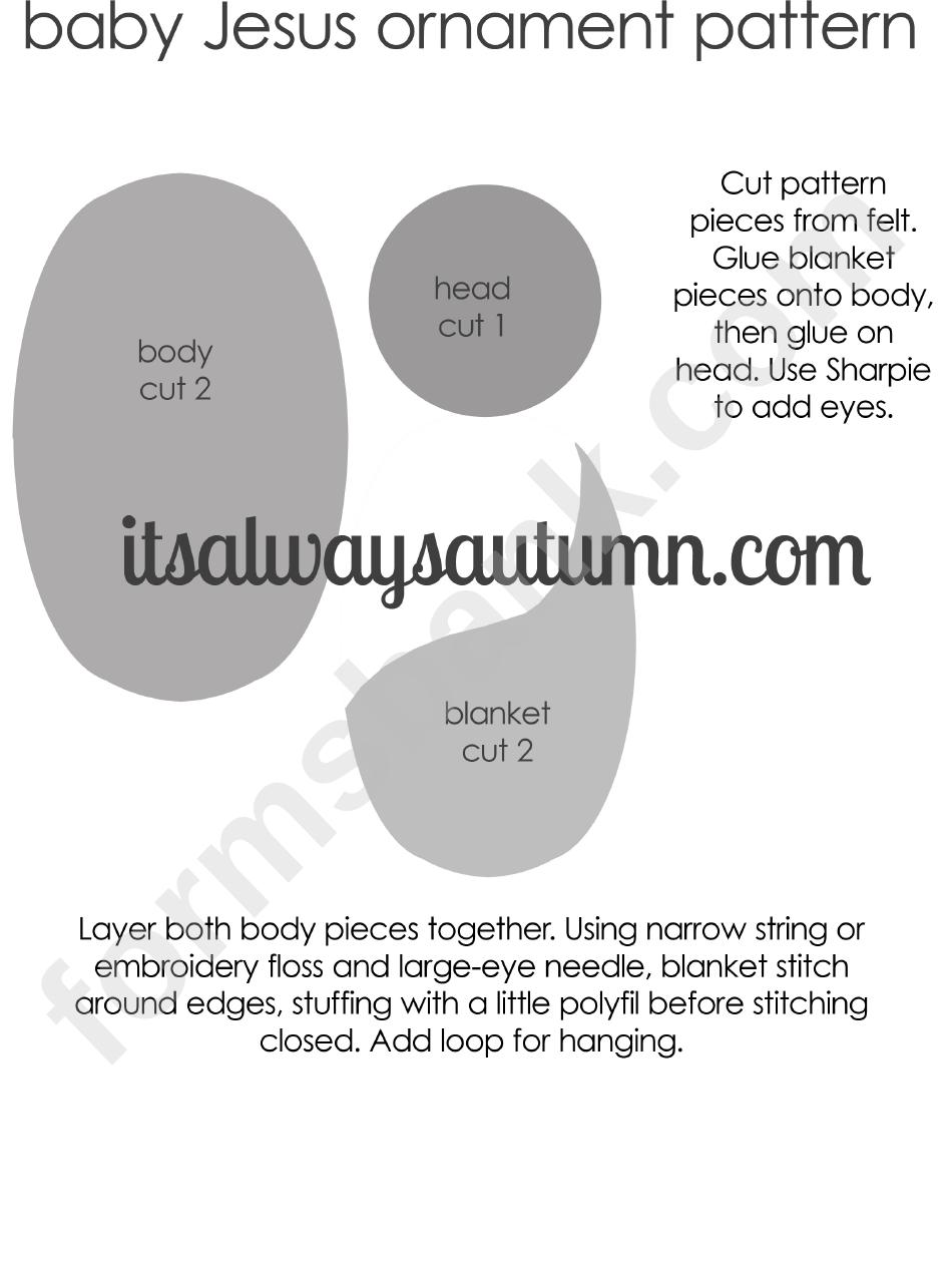 baby jesus ornament pattern template printable pdf download