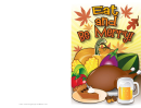 Eat Thanksgiving Meal Invitation Template