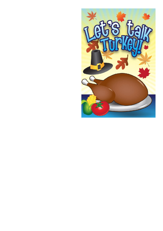 Thanksgiving Talk Turkey Invitation Template
