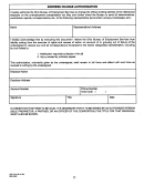Form Cdf-310 - Address Change Authorization - Ohio Bureau Of Employment Services