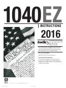 Instructions For 1040ez - 2016