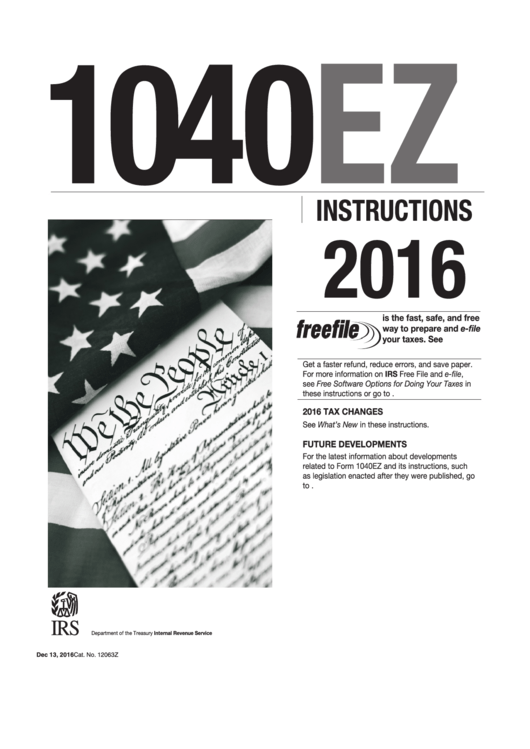 Instructions For 2016 Form 1040 Line 42