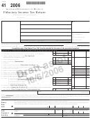 Form 41 Draft - Fiduciary Income Tax Return-alabama Department Of Revenue- 2006
