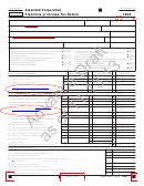 California Form 100xdraft - Amended Corporation Franchise Or Income Tax Return - 2013