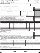 California Form Ftb 3885 - Corporation Depreciation And Amortization - 2012