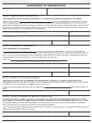 Form Cms-1696 - Appointment Of Representative - Department Of Health And Human Services