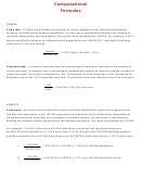 Computational Formulas Template