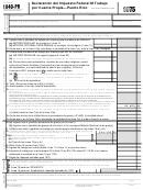 Formulario 1040-pr - Declaracion Del Impuesto Federal M Trabajo Por Cuenta Propia Puerto Rico - 1975